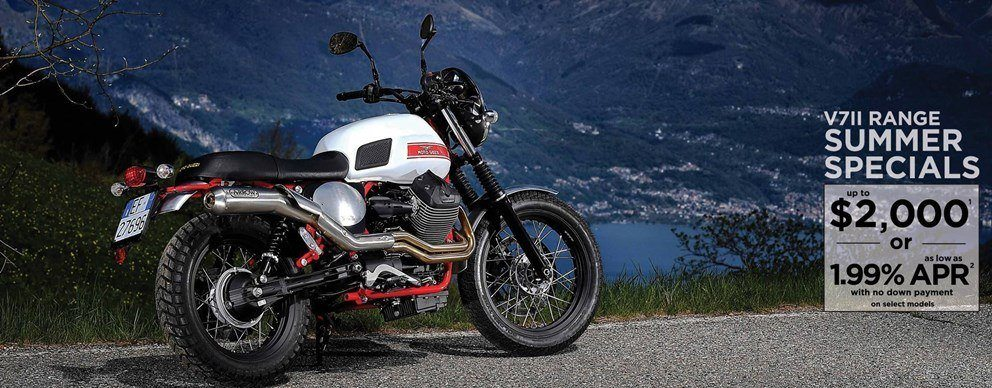 Moto Guzzi - Summer is here! Unprecedented offers on select 2016 V7 II models!